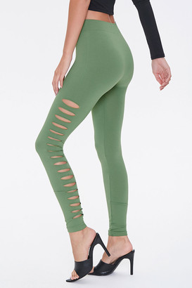 Forever 21 Ladder Cutout Leggings