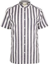 River Island White Pyjama Stripe Short Sleeve Shirt