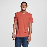 Mossimo Men's V-Neck T-Shirt Red Burnout