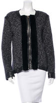 Valentino Fur-Trimmed Jacket