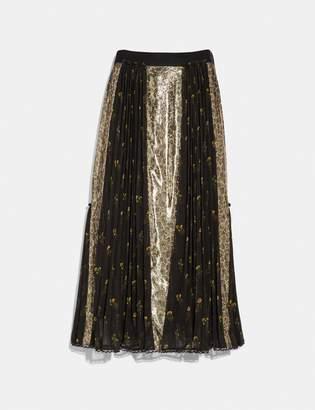 Coach Long Pleated Skirt