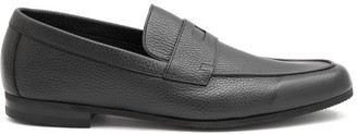 John Lobb Thorne Pebble-grain Leather Penny Loafers - Black