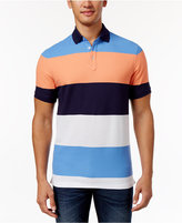Club Room Men's Sun Protection Performance Colorblocked Polo, Only at Macy's
