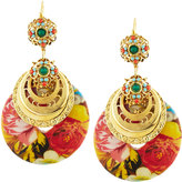 Jose & Maria Barrera Floral Découpage Drop Earrings, Multi