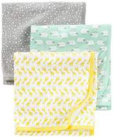 Simple Joys by Carter's Baby 3-Pack Cotton Swaddle Blanket