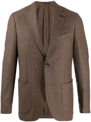 Lardini Houndstooth Wool Blazer