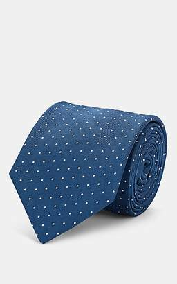 Barneys New York Men's Dot-Print Silk Necktie - Lt. Blue
