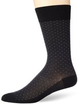 Perry Ellis Men's All Over Pin Dot Microfiber Luxury Dress Sock