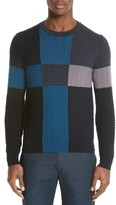 Paul Smith Men's Colorblock Merino Cable Knit Sweater