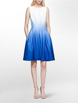 Calvin Klein Ombre Fit + Flare Dress