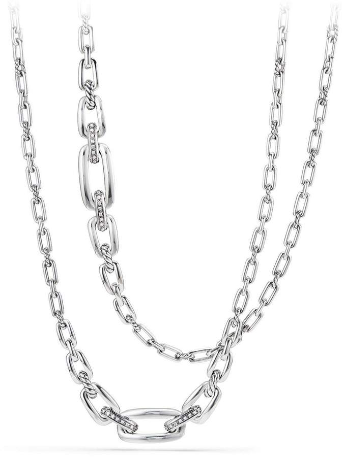 David Yurman Wellesley Link Necklace with Diamonds