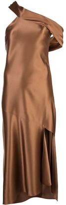 Cushnie Asymmetric Off Shoulder Dress