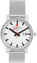 Mondaine Evo Big Date Stainless Steel Watch - Silver