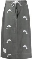 Thom Browne dolphin school uniform style skirt