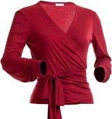 Avani Apparel Wrap-Over Top Sequoia Red