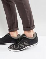 BOSS GREEN By Hugo Boss Large Logo Sneakers Black