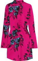 McQ Floral-print Crepe De Chine Mini Dress