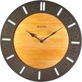 Bulova 18 in. H x 18 in. W Round Wall Clock
