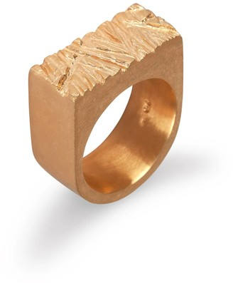 Edge Only Rugged Ring In Gold