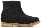 Pom D'Api Glitter Suede Zip Trip Boots