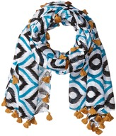 San Diego Hat Company BSS1549 Lightweight Scarf with All Over Print and Tassels
