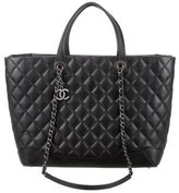 Chanel 2017 Quilted Large Easy Shopping Tote