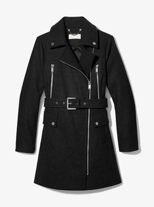 MICHAEL Michael Kors Wool Blend Zip Front Coat