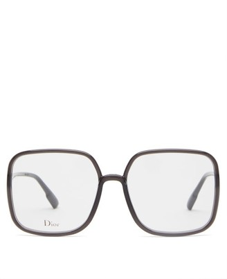 Christian Dior Diorsostellaire01 Square Acetate Glasses - Black