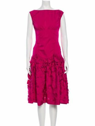 Nina Ricci Bateau Neckline Knee-Length Dress w/ Tags Pink