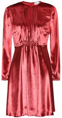 RED Valentino Silk-blend velvet minidress
