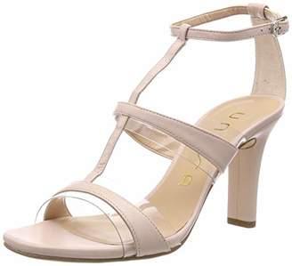 Unisa Women's Sagunto_na Ankle Strap Sandals, Beige Pale