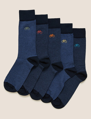 Marks and Spencer 5pk Cool & Fresh Bike Socks