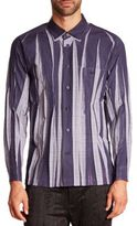 Issey Miyake Wrinkle Check Woven Button-Down Shirt