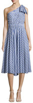 Milly Anna Striped A-Line Dress, Blue