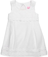 Lilly Pulitzer Mini Adelson Dress (Toddler/Little Kids/Big Kids) (Resort White Lilly Lace Jacquard) - Apparel