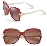 Diane von Furstenberg DVF587S 57mm Square Sunglasses