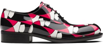 Prada geometric print Oxford shoes