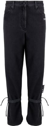 Off-White Strap-Detail Straight-Leg Jeans
