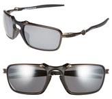 Oakley Men's 'Badman' 60Mm Polarized Sunglasses - Dark Carbon/ Black Iridium