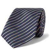 Giorgio Armani 7cm Striped Silk-Jacquard Tie