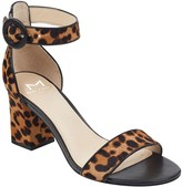 Marc Fisher Karleely Leopard Print Genuine Calf Hair Sandal