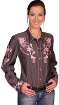 Scully Women's Western Dragon Flower Blouse PL-844