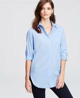 Ann Taylor Petite Striped Oversized Shirt