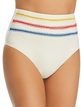 Dolce Vita Kokomo Embroidered High Waist Bikini Bottom