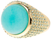 House Of Harlow Embellished Amazonite Ring