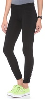 So Low SOLOW Shirred Leggings with Patch Pockets