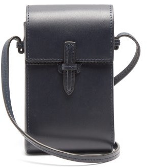 Hunting Season The Cell Phone Leather Cross-body Bag - Navy