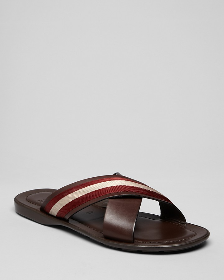 Bally Cross-Strap Sandals