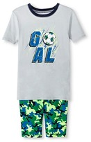 Circo Boys' 2-Piece Soccer Pajama Set Gray/Green