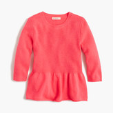 J.Crew Girls' ruffle-hem popover sweater